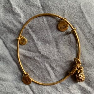 Alex and Ani Jewelry - Alex and ani gold pineapple bracelet